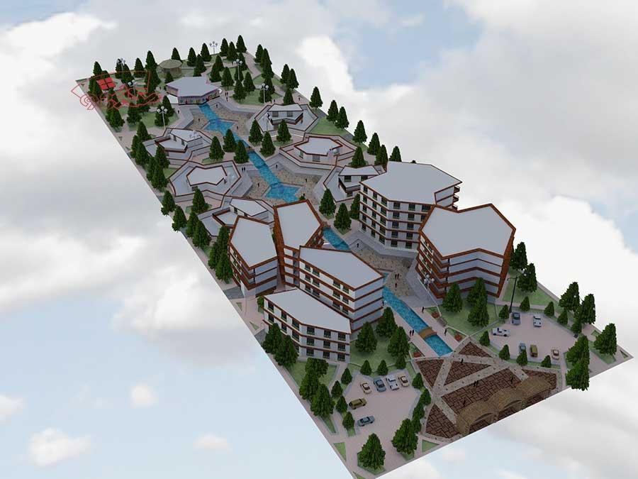 پروژه شهرک مسکونی با تمام جزئیات
