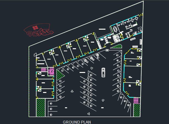 طرح مرکز ادرای تجاری کامل