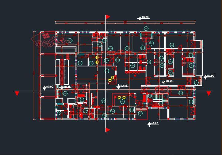 طرح کامل معماری مرکز درمانی