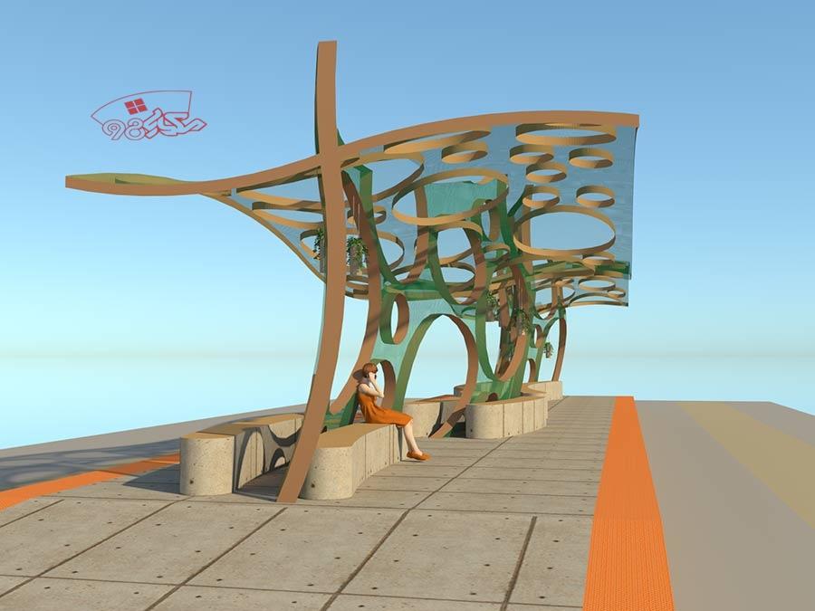 پروژه طراحی ایستگاه اتوبوس