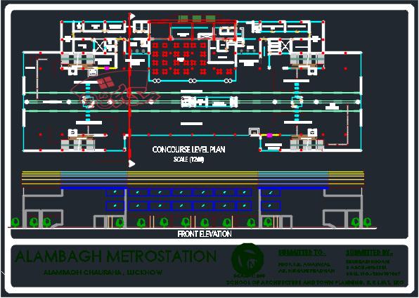 طرح کامل معماری ایستگاه مترو