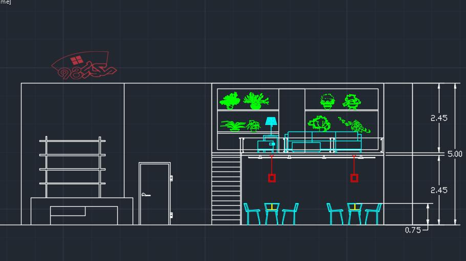 پروژه اماده معماری فست فود