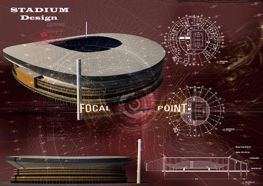 طرح اماده معماری استادیوم ورزشی