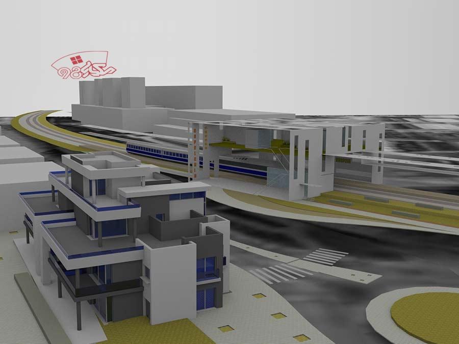 پروژه آماده معماری ایستگاه مترو