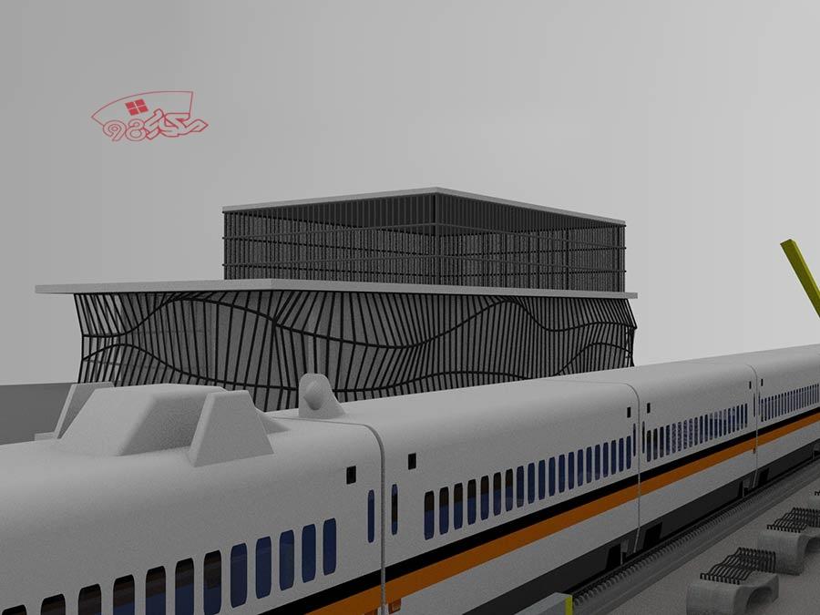 پروژه ایستگاه راه اهن کامل با جزئیات دقیق