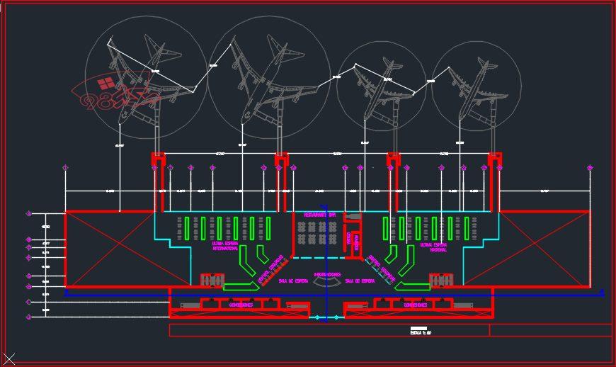 پروژه طراحی فرودگاه کامل با جزئیات