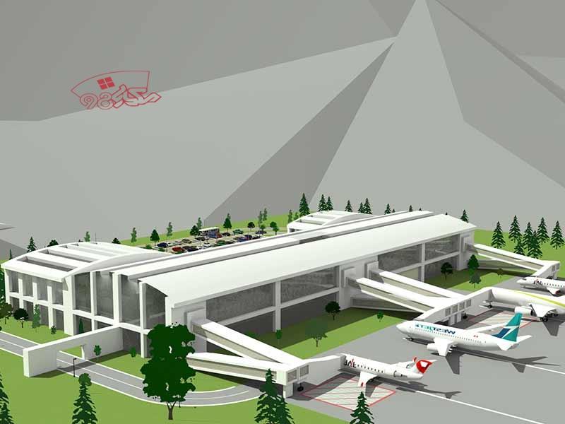 پروژه طراحی فرودگاه با جزئیات