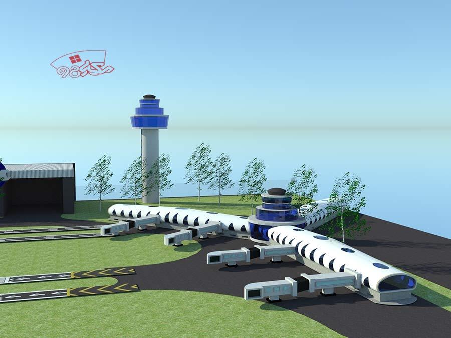 طراحی فرودگاه با جزئیات