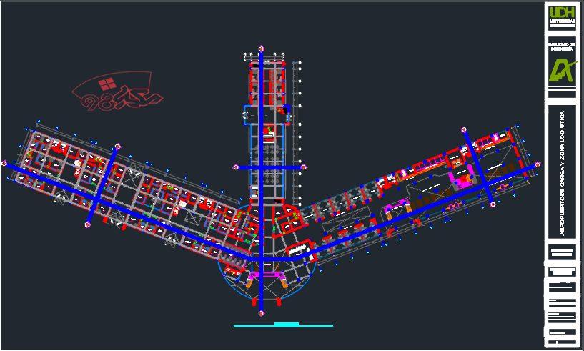 طراحی پروژه فرودگاه با تمام مدارک