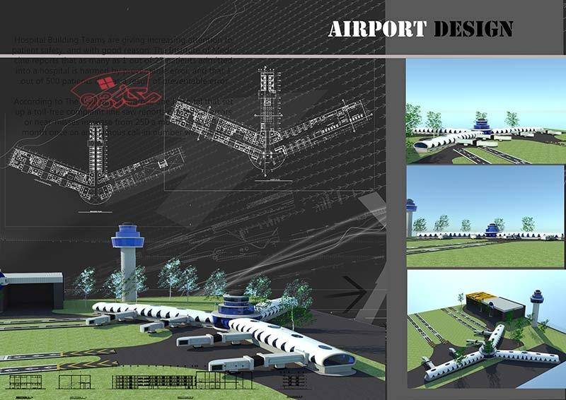 طراحی فرودگاه با تمام مدارک