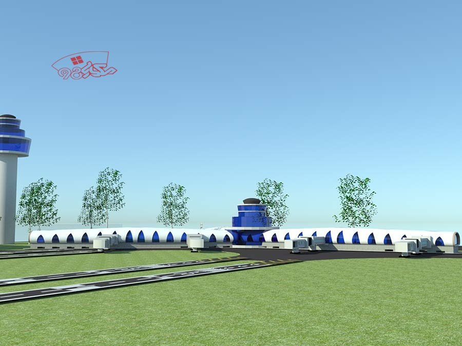 طراحی پروژه فرودگاه با تمام مدارک و جزئیات