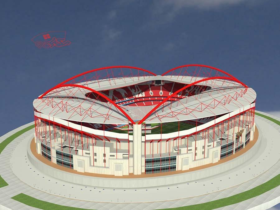 طرح استادیوم با جزئیات
