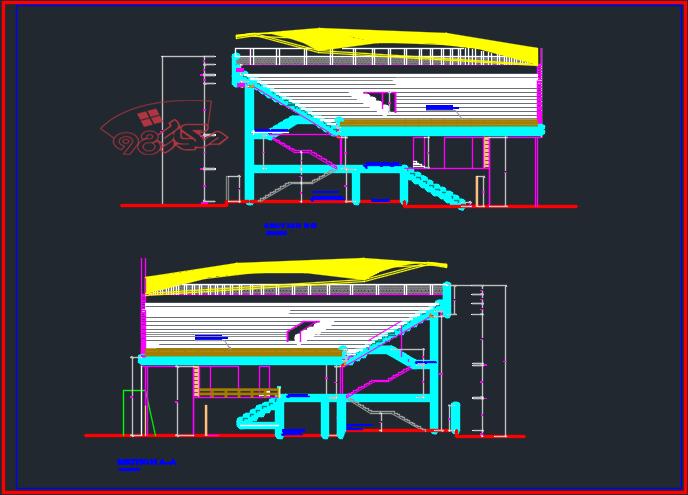 طرح کامل استادیوم ورزشی با تمام مدارک