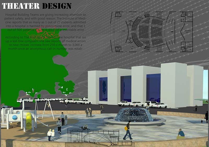 پروژه طراحی سالن تئاتر