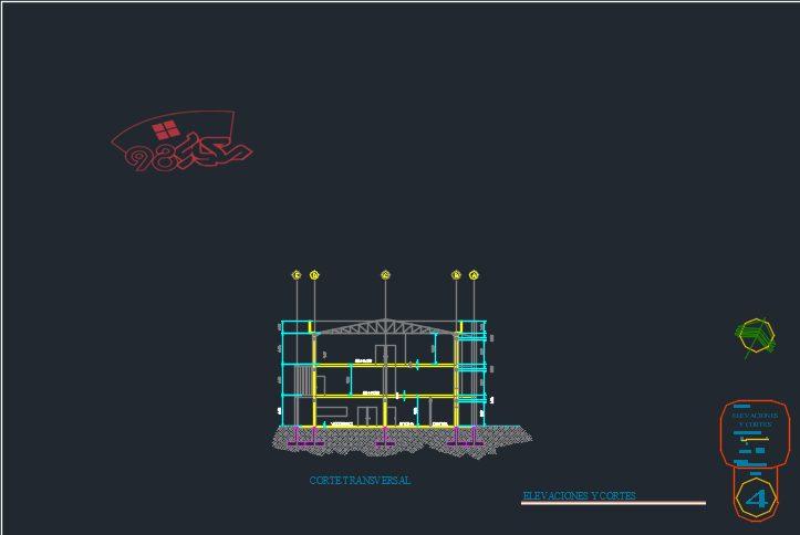 طرح آماده معماری مرکز ورزشی کامل