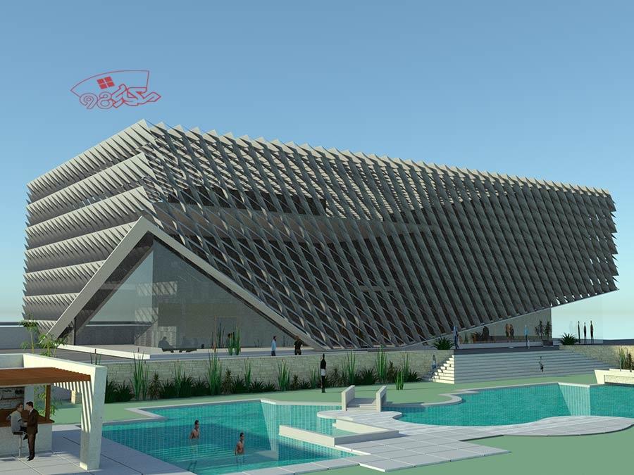 طرح آماده معماری مرکز ورزشی