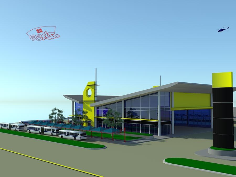 طرح معماری ترمینال مسافربری زیبا