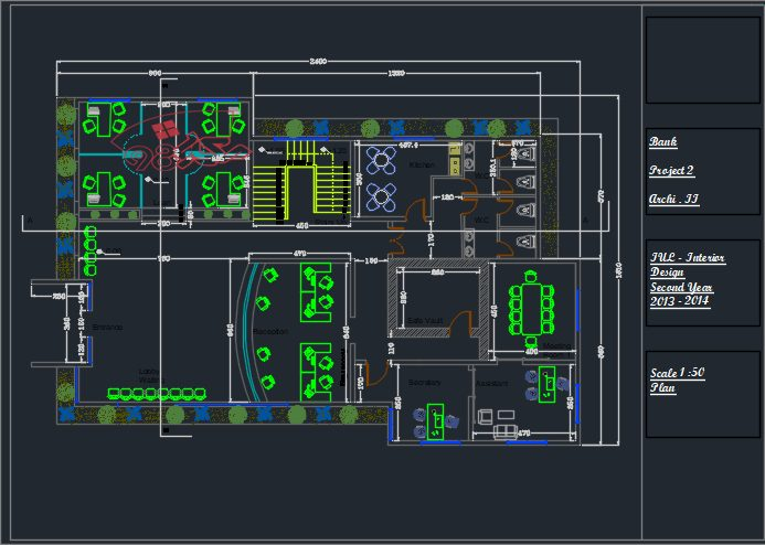 طرح معماری بانک