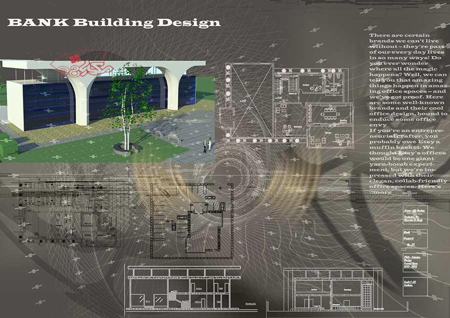 طرح آماده معماری بانک