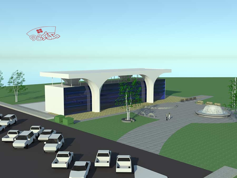 طرح آماده معماری بانک با جزئیات