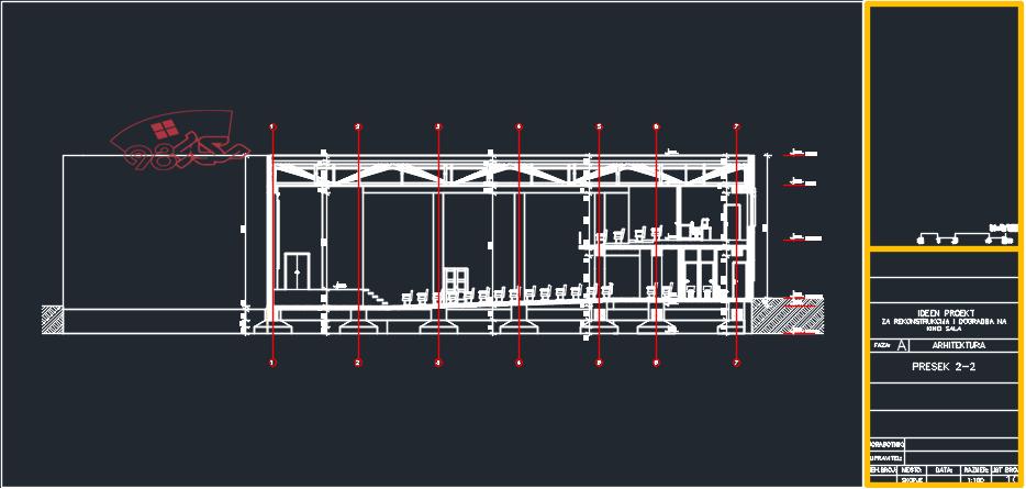 طراحی کامل سینما با جزئیات