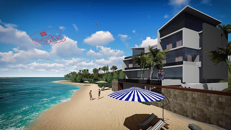 پروژه طراحی ویلای ساحلی زیبا
