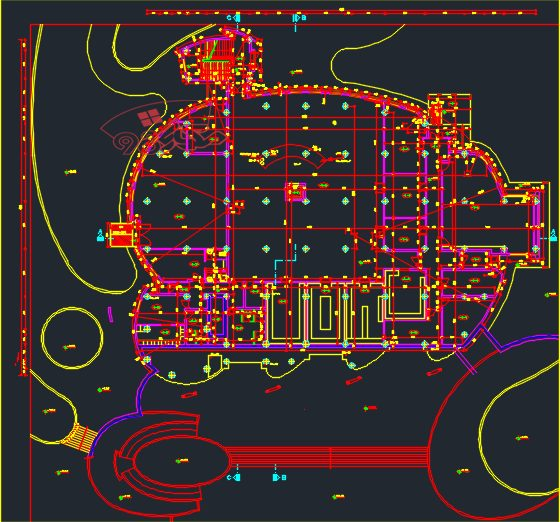 پلان کامل دانشکده فنی مهندسی با جزئیات