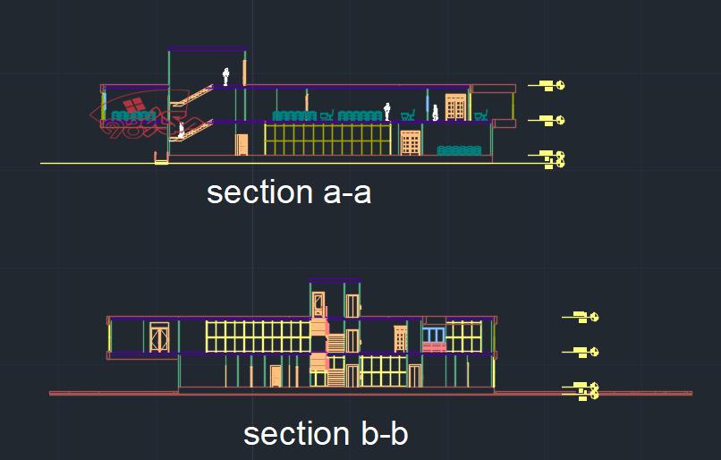 پروژه معماری کتابخانه طرح 3