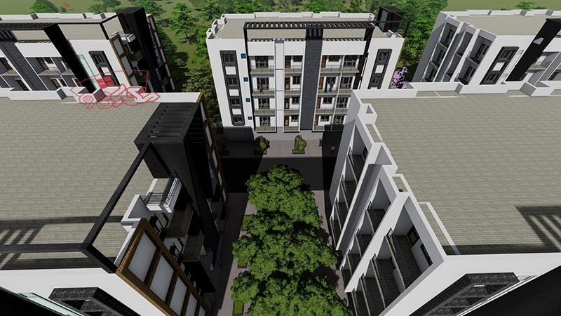 طرح اماده مجتمع مسکونی با جزئیات