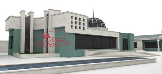 طرح اماده معماری باشگاه سوار کاری