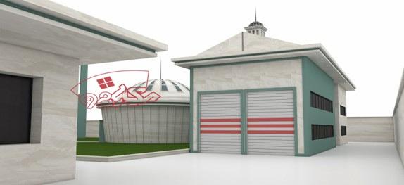 پروژه اماده معماری باشگاه اسب سواری