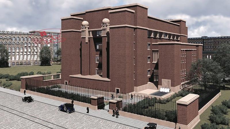 پاورپوینت بررسی ساختمان لارکین