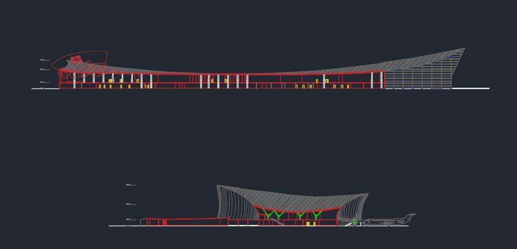 طرح آماده معماری فرودگاه منطقه ای
