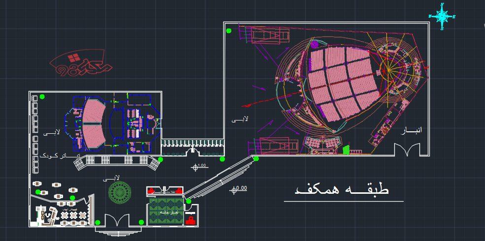 پروژه طراحی تئاتر شهر