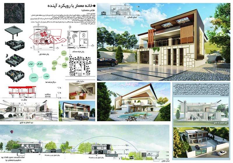 پروژه طراحی خانه معمار با رویکرد آینده
