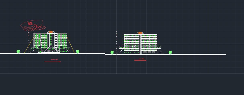 نمونه طراحی پروژه هتل طرح 3 کامل