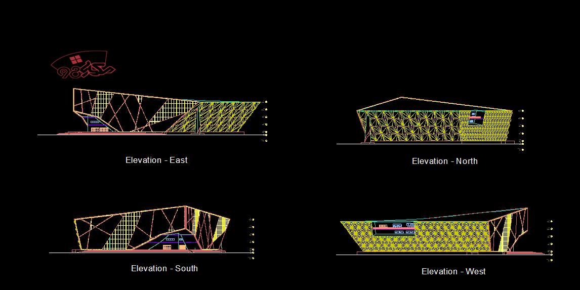 پروژه آماده معماری کتابخانه دیجیتال با مدارک کامل