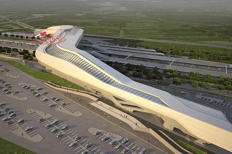 پاورپوینت معماری ایستگاه قطار افراگولا ناپلی