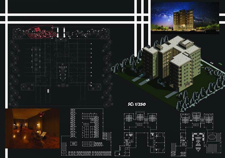 طراحی مسکونی طرح 5