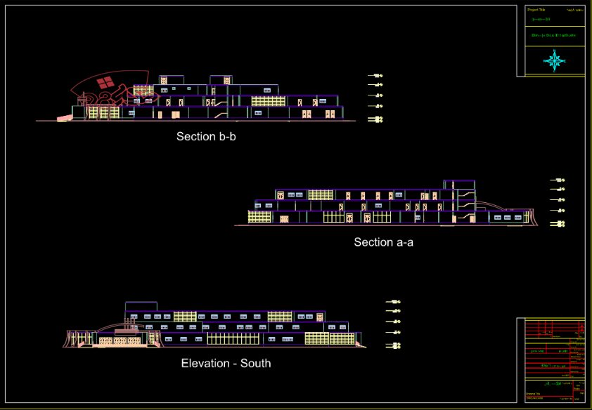 پلان بیمارستان 2 طبقه