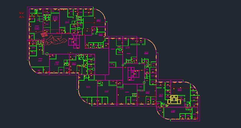 نقشه مجتمع مسکونی طرح 5