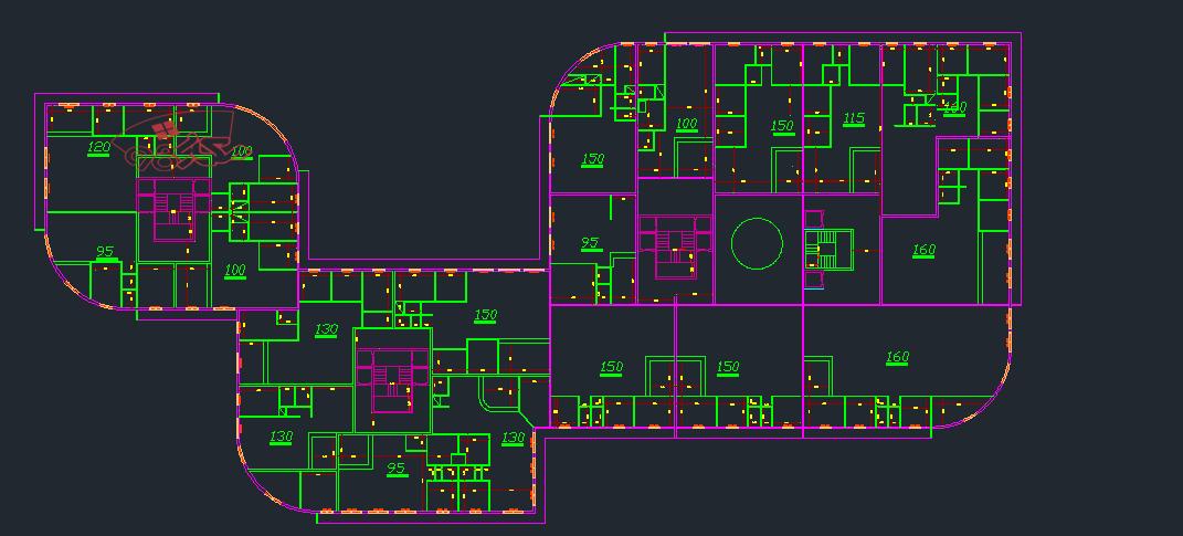 نقشه مجتمع مسکونی کامل
