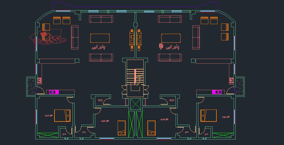 نمونه طراحی مجتمع مسکونی