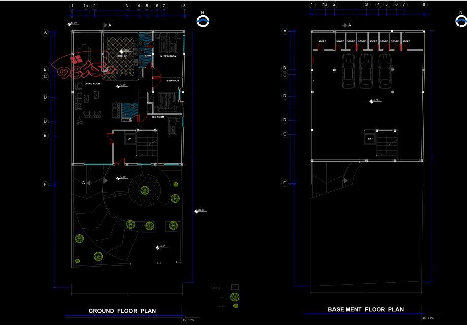 پروژه طرح 1 معماری مسکونی