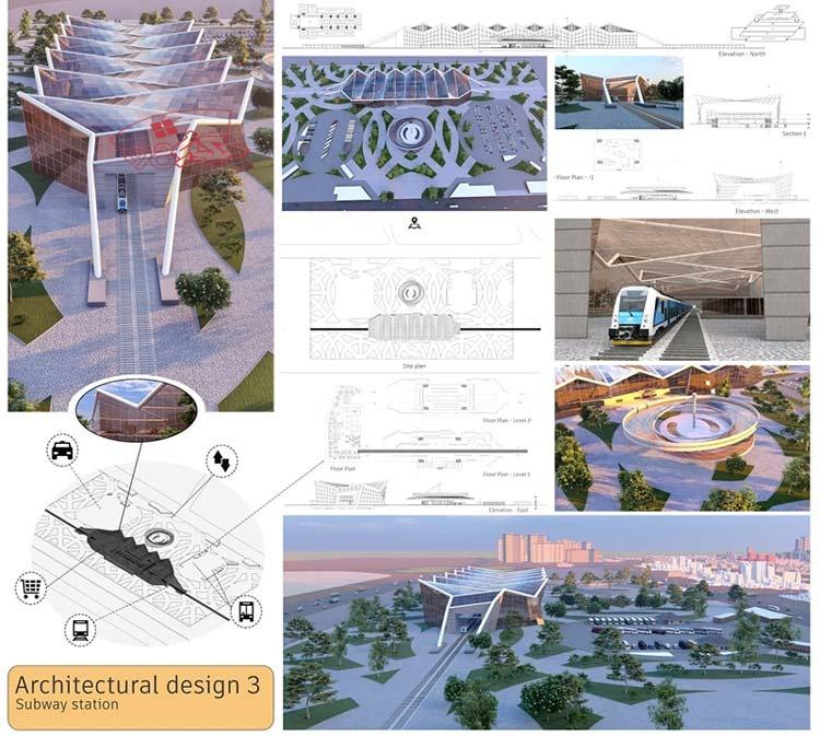 طراحی معماری مترو
